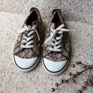 COACH 10.5 brown sneakers